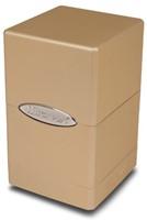 Deck Box Satin Tower Metallic Caramel