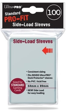 Sleeves Pro-Fit - Standaard Clear Side Load (64x89 mm)