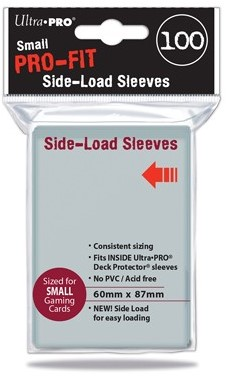Sleeves Pro-Fit - Small Clear Side Load (60x87 mm)