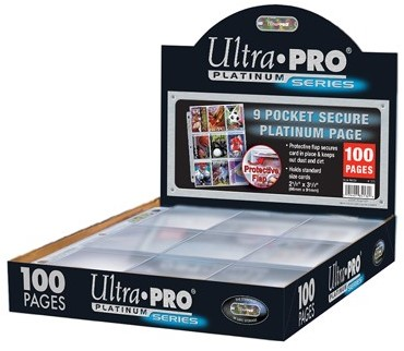 Hologram Pages 9-pocket Secure Platinum (10 stuks)