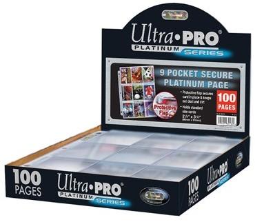 Hologram Pages 9-pocket Secure Platinum (25 stuks)