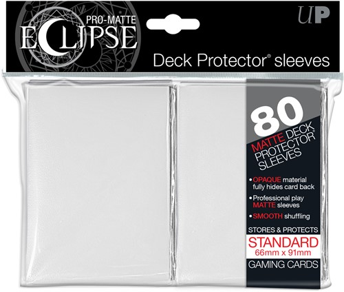 Sleeves Eclipse Pro-Matte - Wit (66x91 mm)