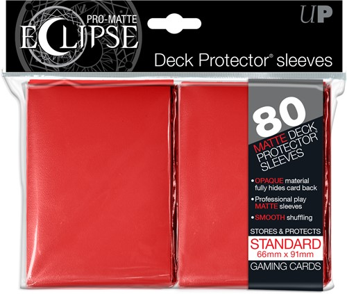 Sleeves Eclipse Pro-Matte - Rood (66x91 mm)