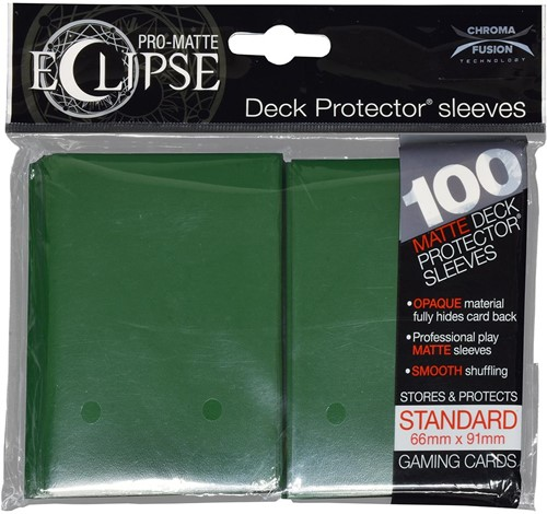 Sleeves Eclipse Donker Groen (66x91 mm)
