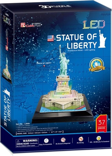 3D Puzzel - Statue of Liberty LED (37 stukjes)