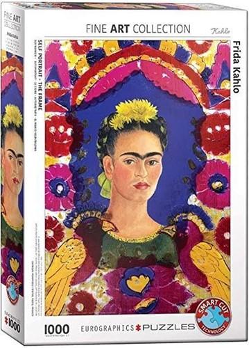 Self Portrait, The Frame - Frida Kahlo Puzzel (1000 stukjes)