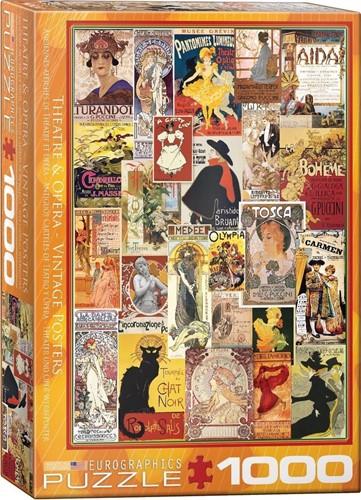 Theatre & Opera Vintage Posters Puzzel (1000 stukjes)