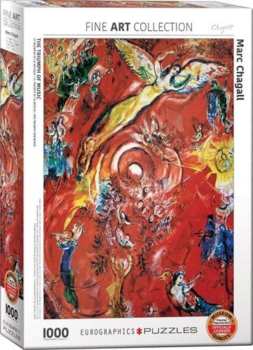 The Triumph of Music - Marc Chagall Puzzel (1000 stukjes)