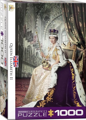 Queen Elizabeth II Puzzel (1000 stukjes)
