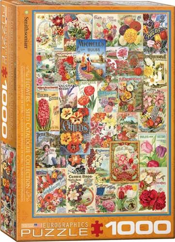 Flower Seed Catalog Covers Puzzel (1000 stukjes)