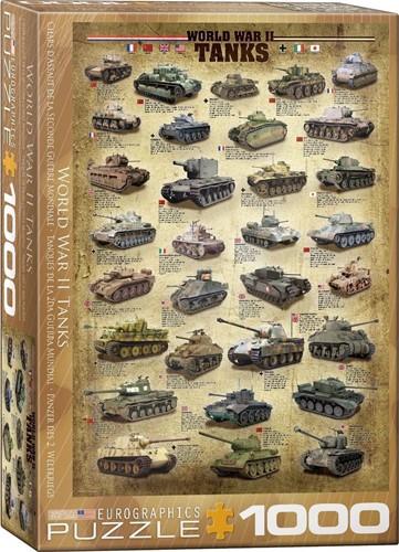 World War II Tanks Puzzel (1000 stukjes)