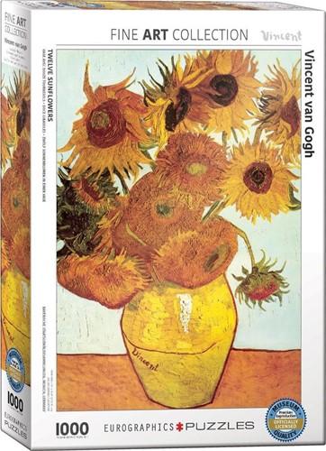 Twelve Sunflowers - Vincent van Gogh Puzzel (1000 stukjes)
