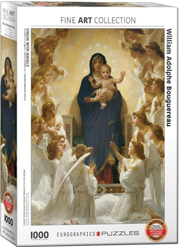 Bourguereau - Virgin with Angels Puzzel (1000 stukjes)