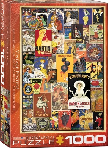 Vintage Posters Puzzel (1000 stukjes)