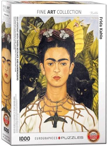 Self-Portrait with Thorn Neclace and Hummingbird Puzzel (1000 stukjes)