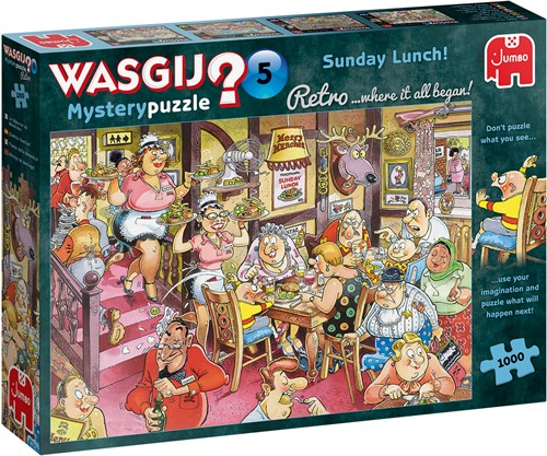 Wasgij Retro Mystery 5 - Zondagse Lunch! Puzzel (1000 stukjes)