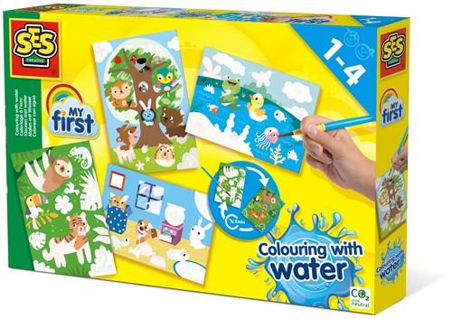 SES My First - Kleuren met Water Verborgen Dieren