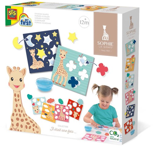 SES - My First Sophie La Girafe Sticking Shapes