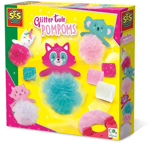SES - Glitter Tule Pompons