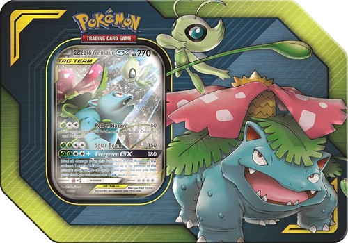 Pokemon Tag Team Tin Celebi & Venusaur-GX