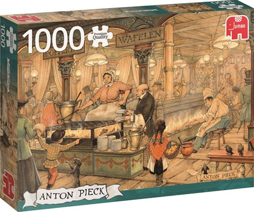 Anton Pieck - Poffertjeskraam Puzzel (1000 stukjes)