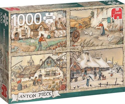 Anton Pieck - 4 Seizoenen Puzzel (1000 stukjes)