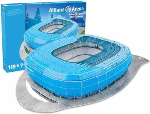 Bayern Munchen - Allianz Arena Blauw 3D Puzzel (119 stukjes)