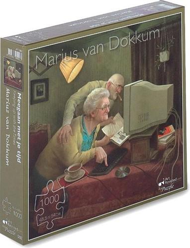Marius van Dokkum - Meegaan met je Tijd Puzzel (1000 stukjes)