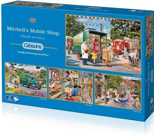 Mitchell's Mobile Shop Puzzel (4 x 500 stukjes)