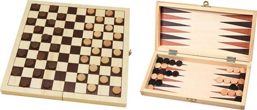 Dam- en Backgammonset
