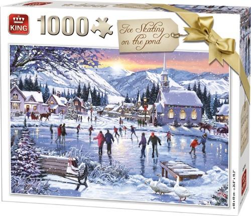 Ice Skating On The Pond Puzzel (1000 Stukjes)