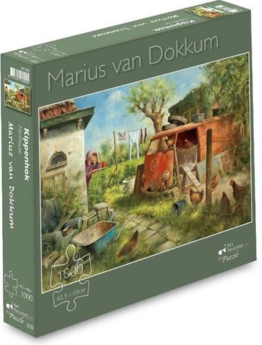 Marius van Dokkum - Kippenhok Puzzel (1000 stukjes)