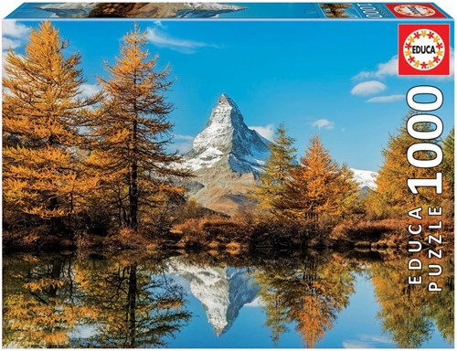 Matterhorn Mountain in Autumn Puzzel (1000 stukjes)