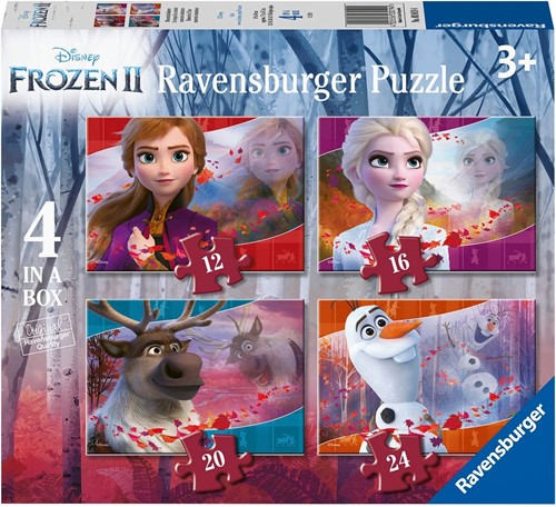 Frozen 2 - 4 in 1 Puzzel