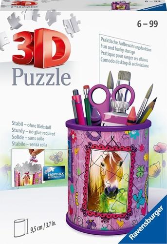 3D Puzzel - Pennenbak Paarden (54 stukjes)