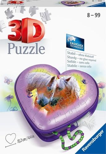 3D Puzzel - Hartendoosje Paarden (54 stukjes)
