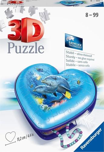 3D Puzzel - Hartendoosje Onderwaterwereld (54 stukjes)