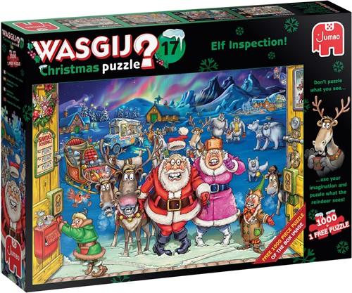Wasgij Christmas 17 - Elf Inspectie Puzzel (1000 stukjes)