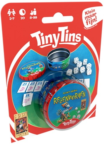 Tiny Tins: Regenwormen - Dobbelspel