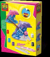 SES - Gieten en Schilderen - Glitter Dolfijn