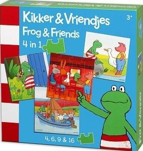 4 in 1 kinderpuzzel kikker en vriendjes