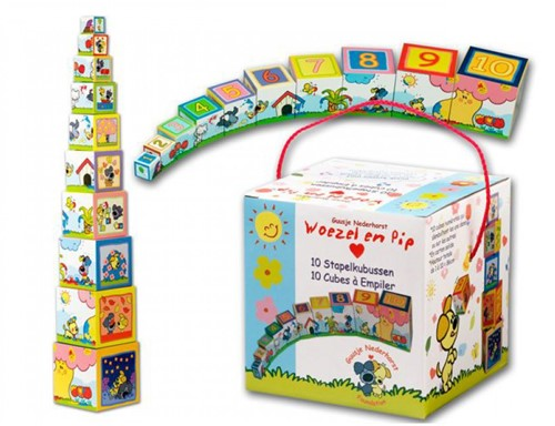 Woezel & Pip - Kartonnen Stapelblokken-2