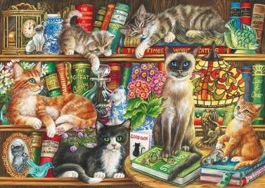 Puss in Books Puzzel (1000 stukjes)