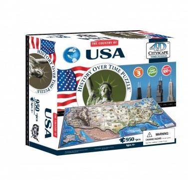 4D City Puzzel - USA (950 stukjes)-1