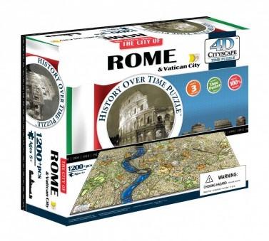 4D City Puzzel - Rome (1200 stukjes)-1