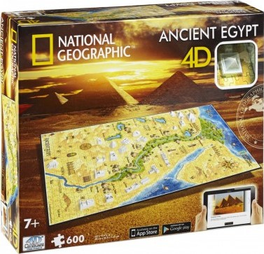 4D National Geographic Puzzel - Ancient Egypt (600 stukjes)-1