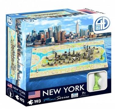4D Mini City Puzzel - New York (193 stukjes)-1