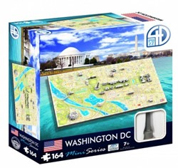4D Mini City Puzzel - Washington D.C. (164 stukjes)