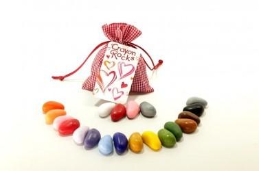 Crayon Rocks - Heart Bag 19 colors