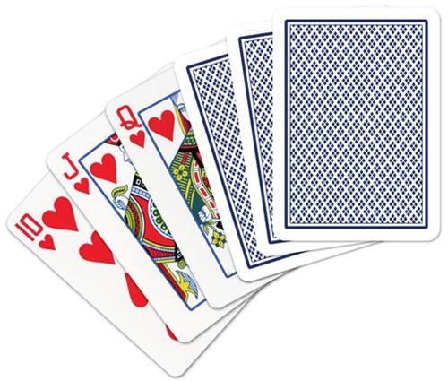 Speelkaarten - Copag 100% Plastic Poker Normal Faces Blauw